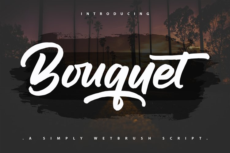 Bouquet | A Simpely Wetbrush Script example image 1