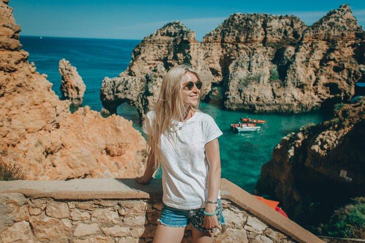 Beautiful woman, Lagos, Algarve, Portugal