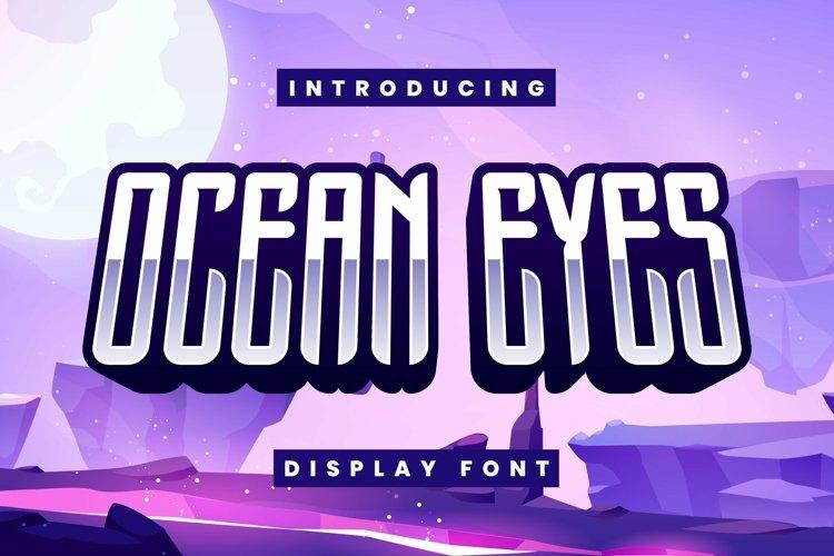 Web Font Ocean Eyes example image 1
