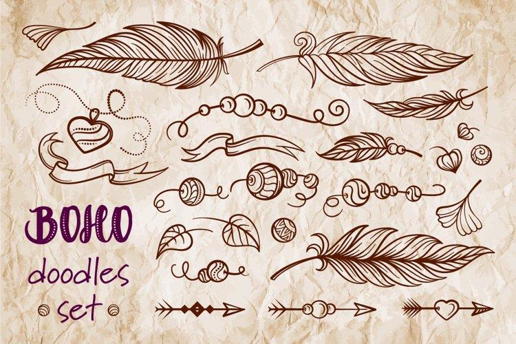 Boho doodles vector set example image 1