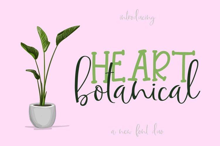 Web Font Botanical Heart example image 1