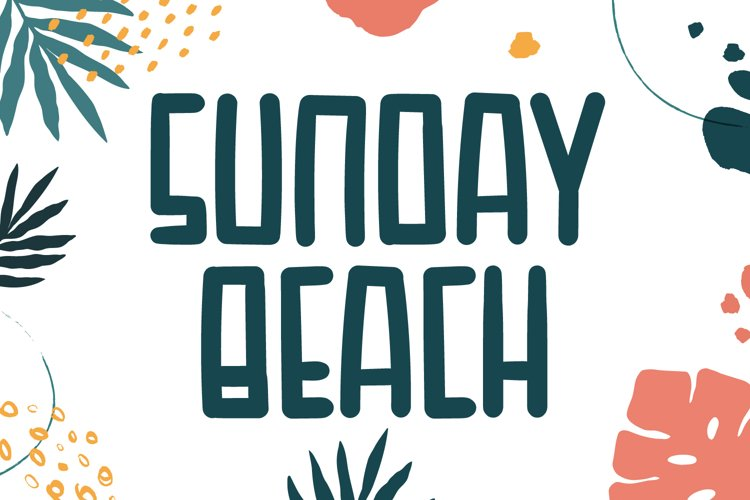 Sunday Beach - Cute Display Font example image 1