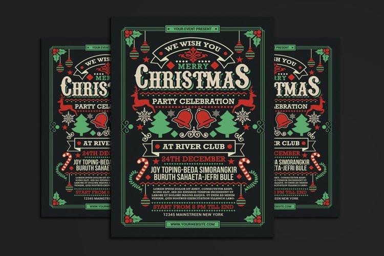 Christmas Party Celebration Flyer example image 1