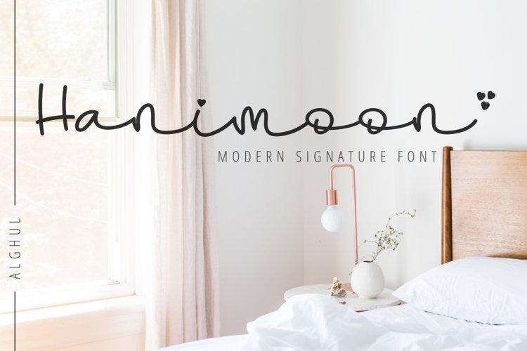 Hanimoon-Modern Signature Font example image 1