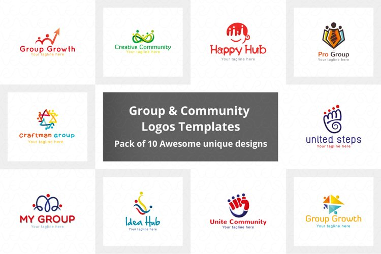 Common Group & Community Logo Pack of 10 Awesome designs