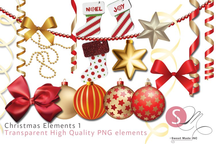 Christmas Elements 1 example image 1