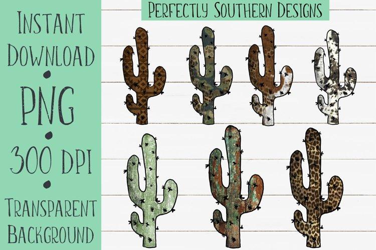 Western Cactus Sublimation Elements Bundle