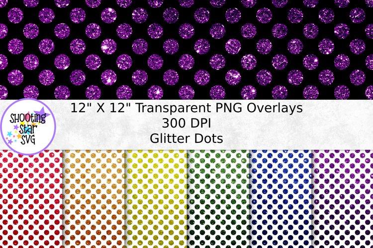 Glitter Dots Transparent Paper Overlay - Seamless