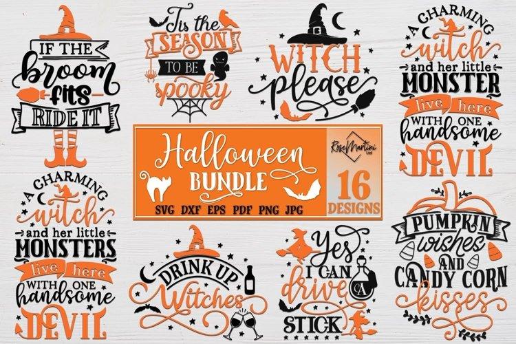 Halloween Bundle of 16 designs SVG Halloween Decorations