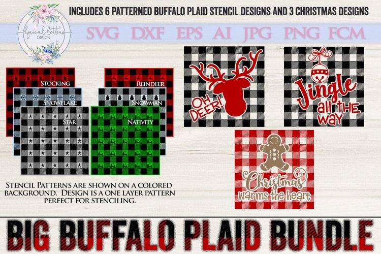 The Big Buffalo Plaid Christmas Bundle SVG DXF FCM