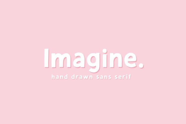 Imagine | Hand Drawn Sans Serif example image 1