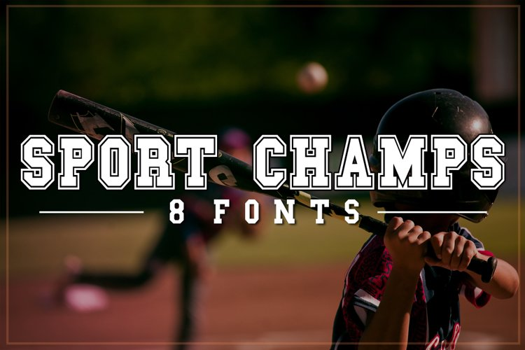 Sports Font Pack | Varsity Font example image 1