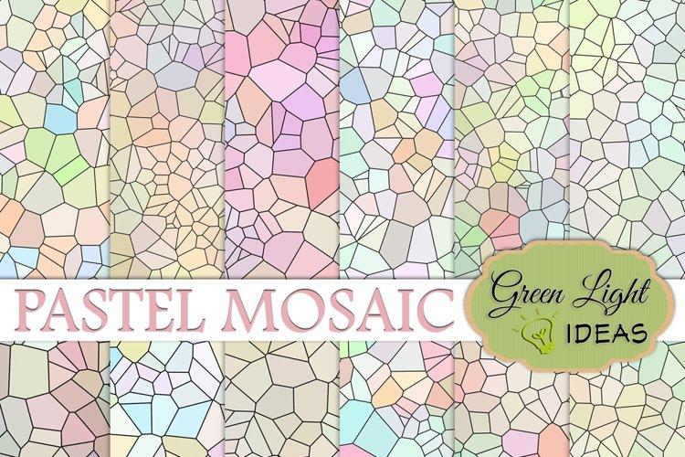 Pastel Mosaic Digital Papers example image 1