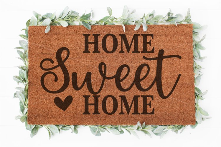 Home Sweet Home svg | Welcome sign svg | Doormat svg example image 1