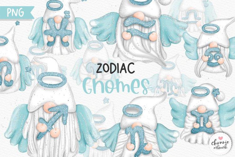 Zodiac Gnomes Clipart, Angel Gnomes Zodiac example image 1