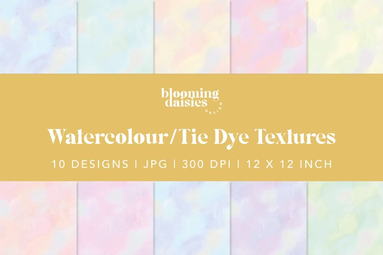Pastel watercolor digital paper, tie dye paper bundle example 1