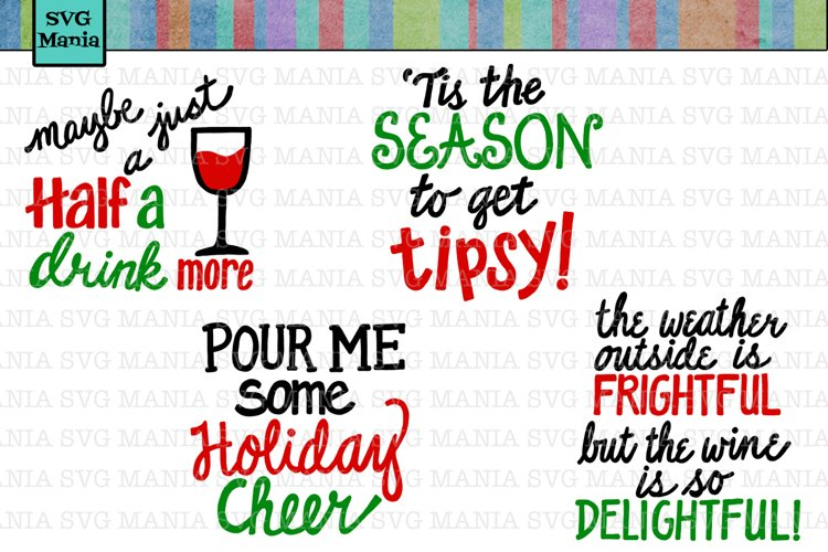 Another Funny Christmas Wine Glass SVG Bundle, Wine SVG File example image 1