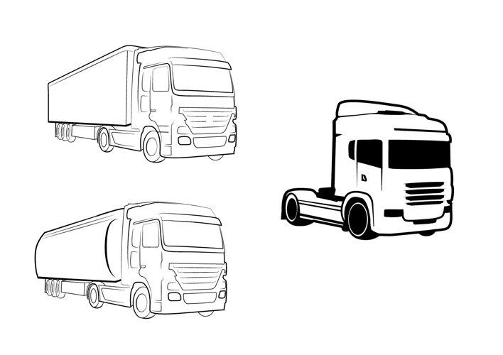 Trucks Lineart