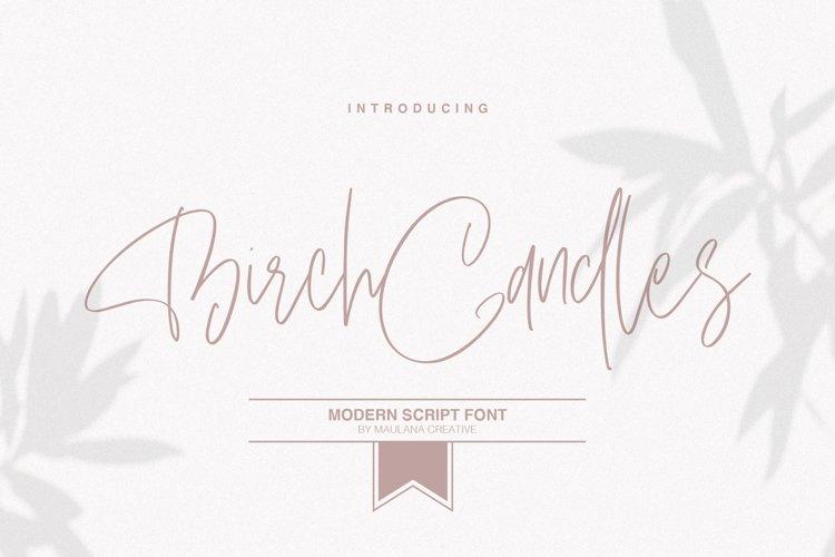 Birch Candles - Handwritten Font example image 1