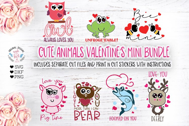 Valentine Cute Animal Bundle 418412 Svgs Design Bundles