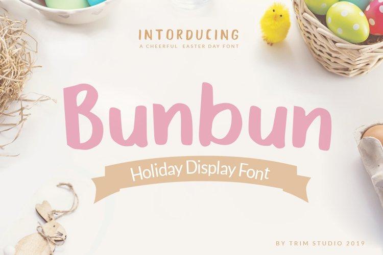 Bunbun - Holiday Font example image 1