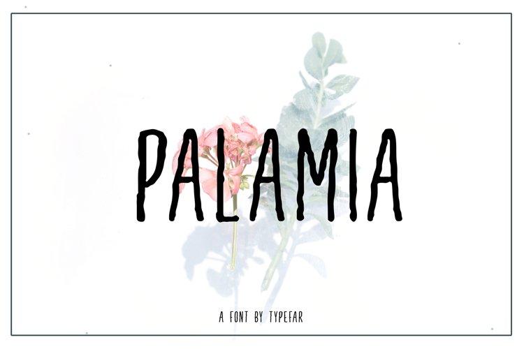 Palamia Handwritten Font example image 1