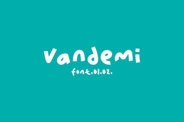 Vandemi Handwritten font example image 1