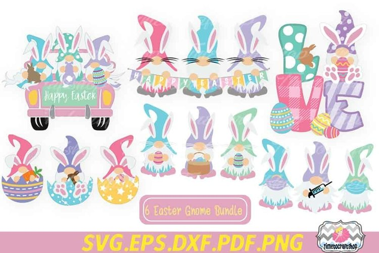 Easter Gnome Bundle, Easter Gnome Love, Easter Bunny Ears Gn