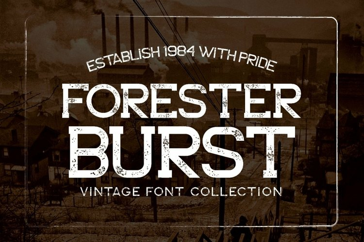 Web Font Forester Family example image 1