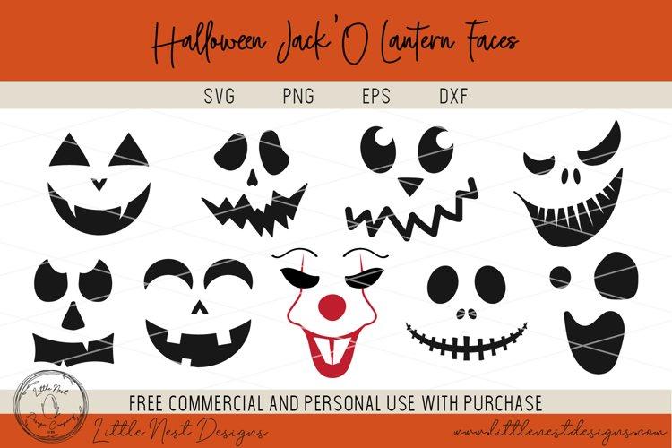 Halloween Jack O Lantern Faces - Pumpkin Faces - SVG Pumpkin