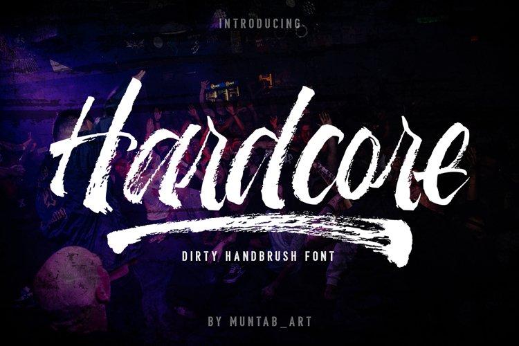 Hardcore | Hand Brush Font example image 1