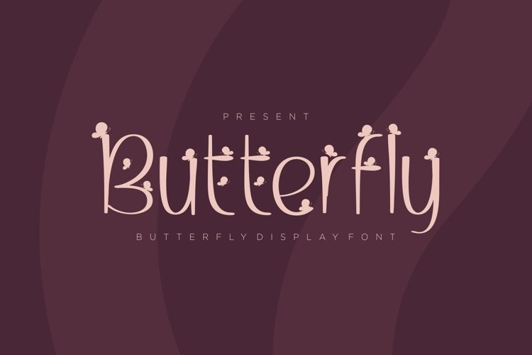 Butterfly - Butterfly Display Font example image 1