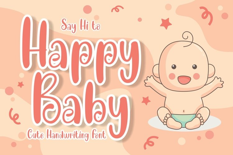 Happy Baby Cute Font example image 1
