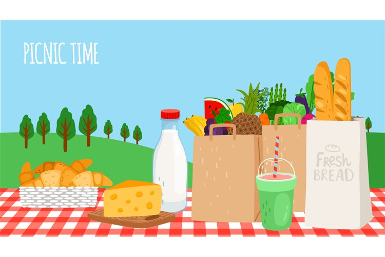 Outdoor breakfast picnic example image 1