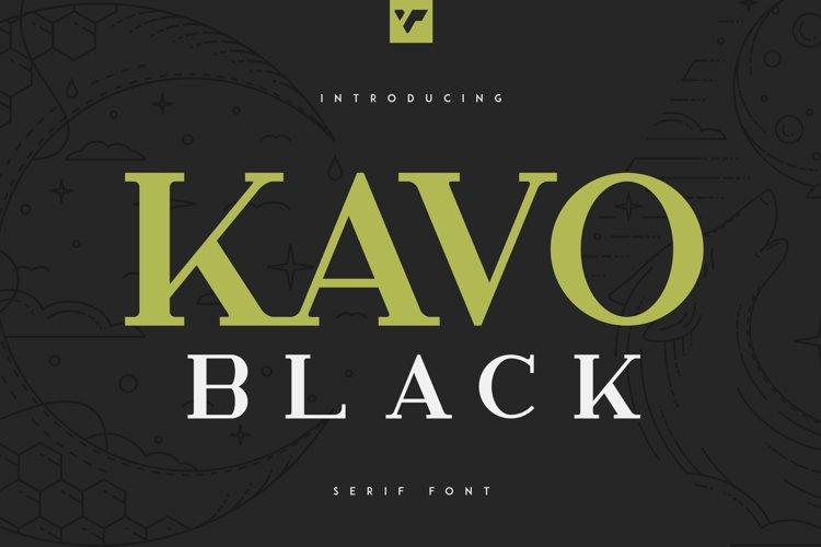 Kavo Serif Black example image 1