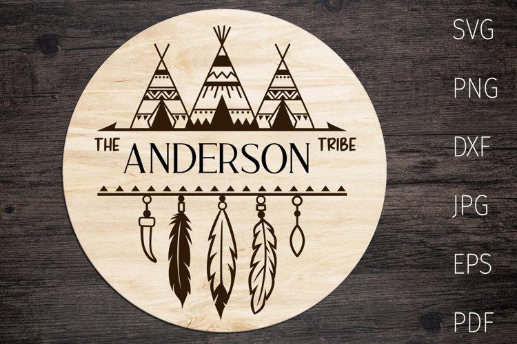 Family Monogram, tribal split monogram svg, native american