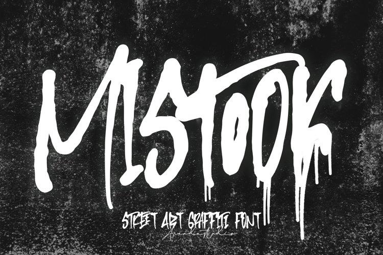 Mistook - Street Art Graffiti Font example image 1