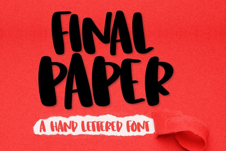 Web Font Final Paper - A Clean Hand Lettered Type example image 1