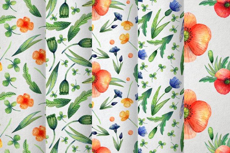 Watercolor wildflowers example 8