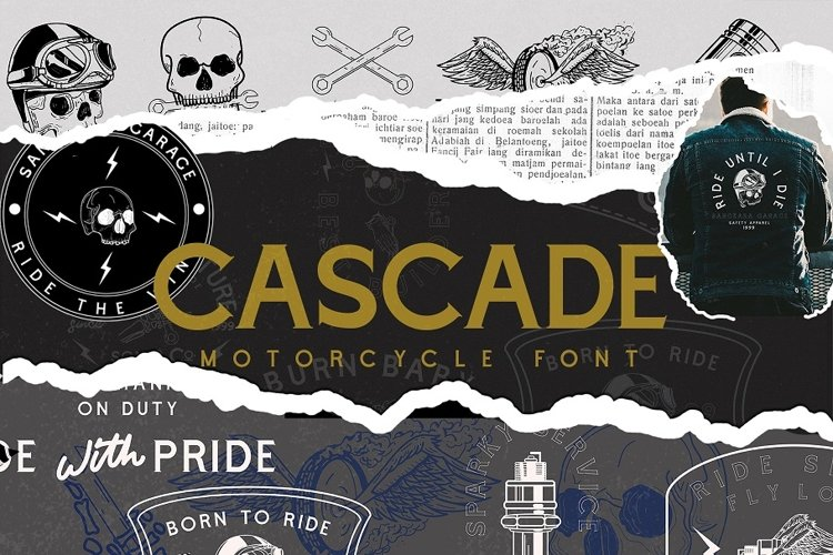 Cascade Motorcycle font example image 1