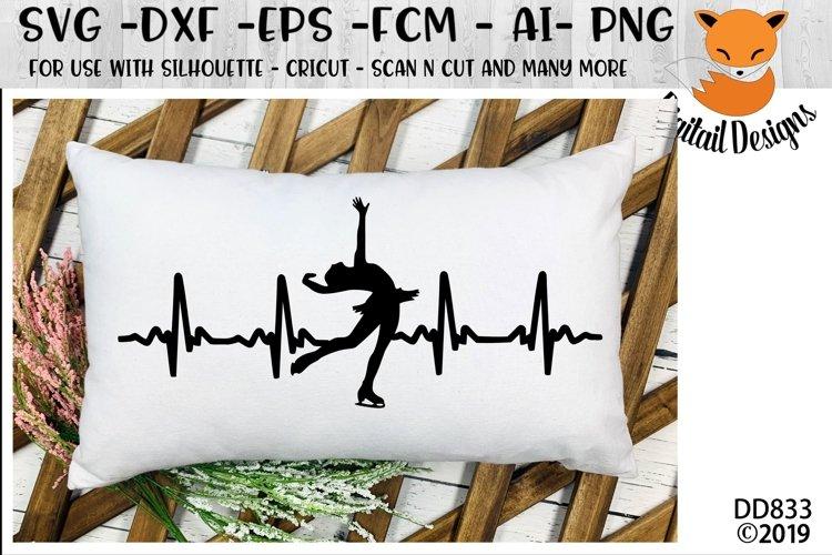 Figure Skating EKG SVG for Silhouette, Cricut, Scan N Cut