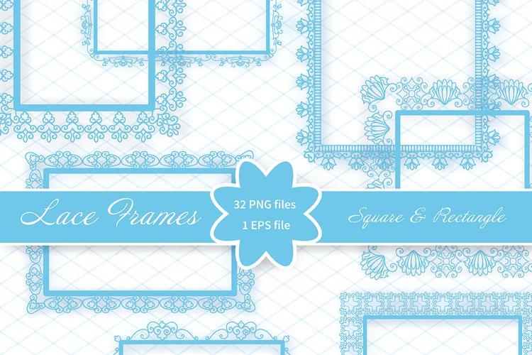 Elegant Lace Borders Frames laser cut Picture Frames Art scrapbook - square Blue Lacy Frames and rectangle frames square and rectangle