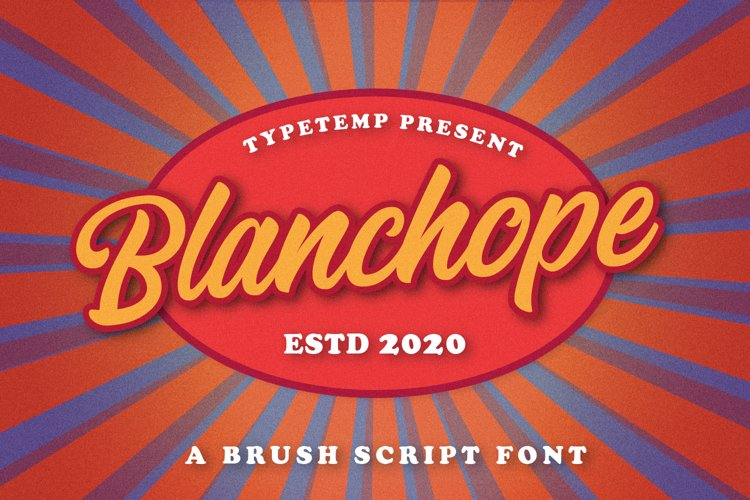 Blanchope Font example image 1