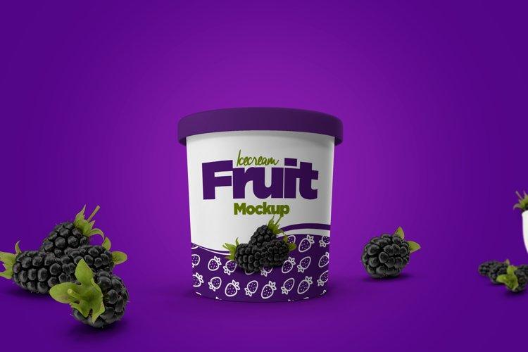 Ice Cream Cup Mockup