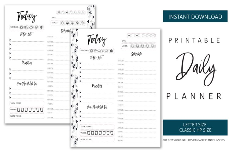 Printable Daily Planner Inserts example image 1