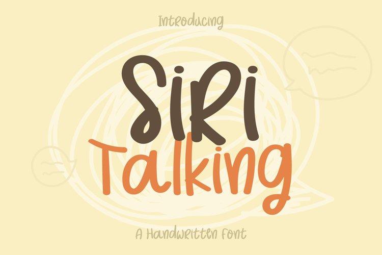 Siri Talking example image 1