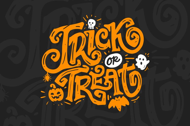Trick or Treat Vector Lettering example image 1