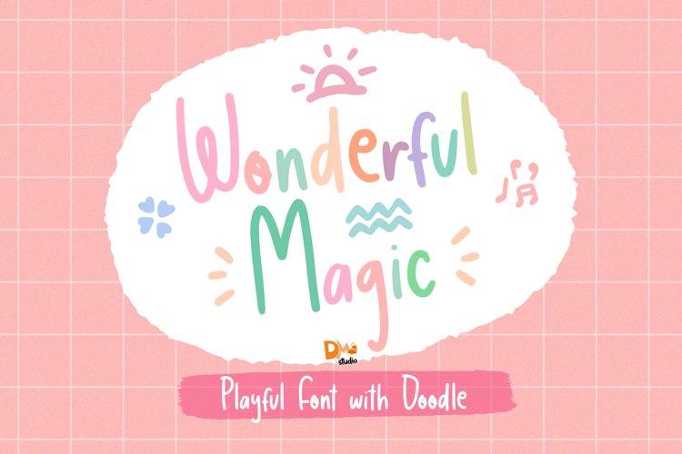 Wonderful Magic - Playful Handwritten Font example image 1