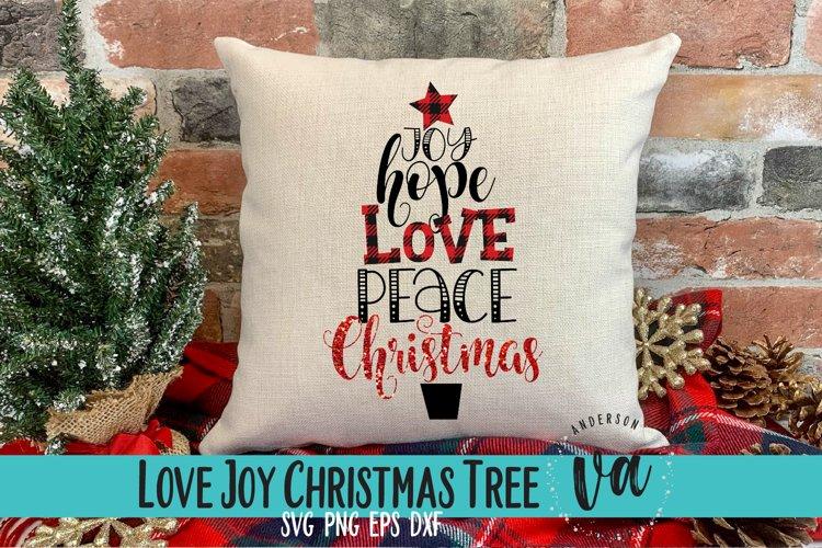 Joy Hope Love Peace Christmas SVG example image 1