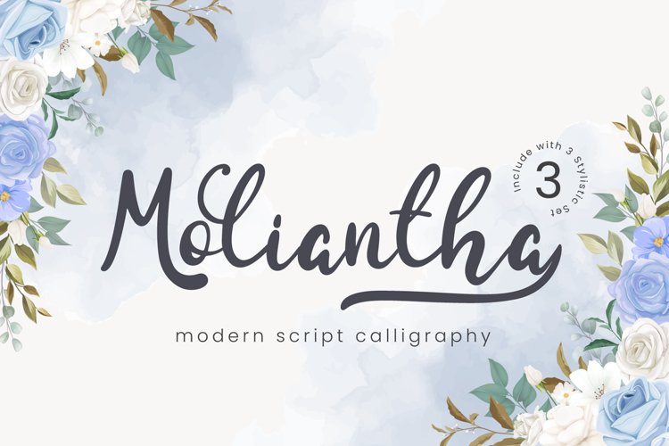 Moliantha - Script Calligraphy Font example image 1